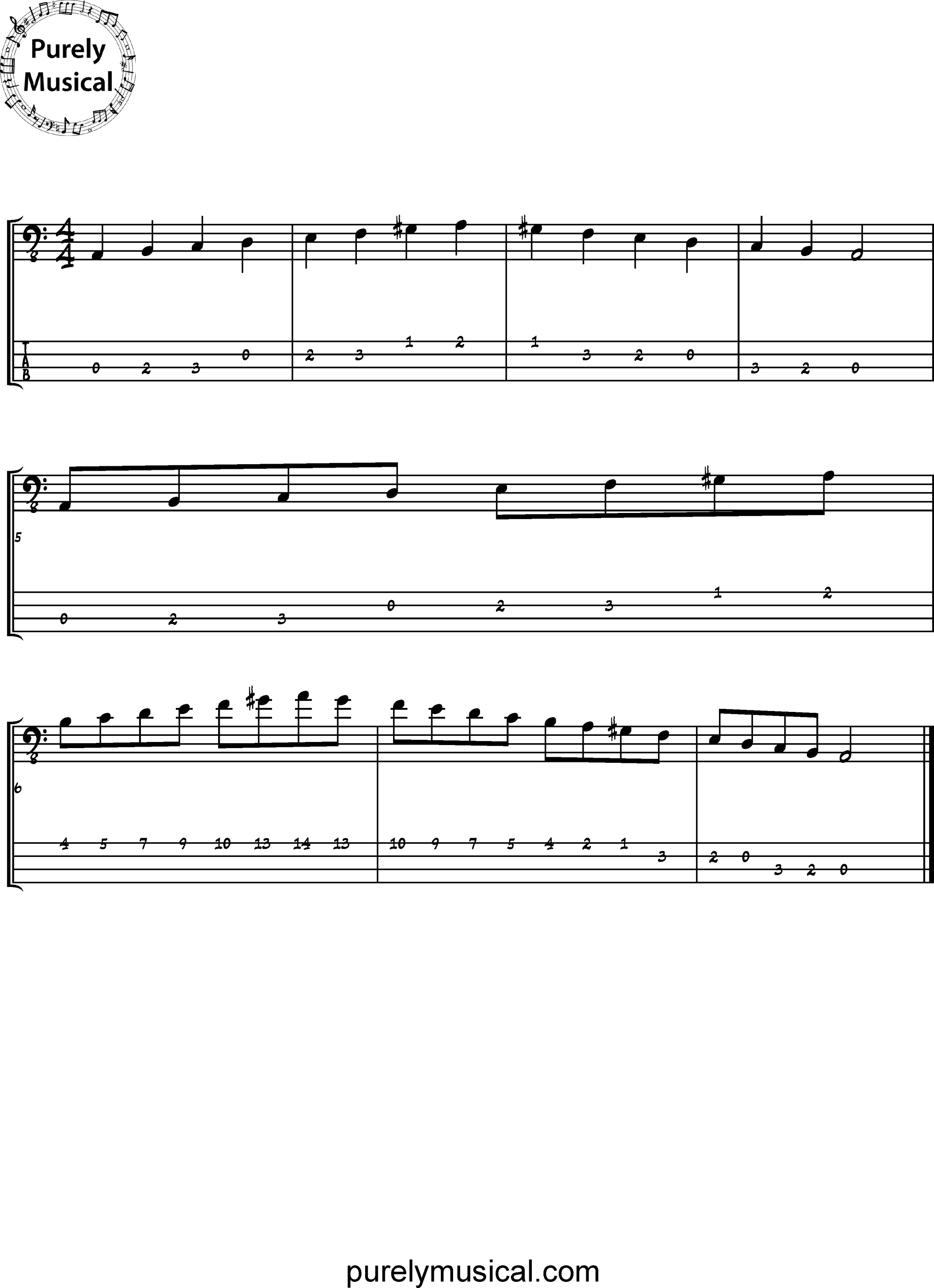 Beginner  Scale A Harmonic Minor