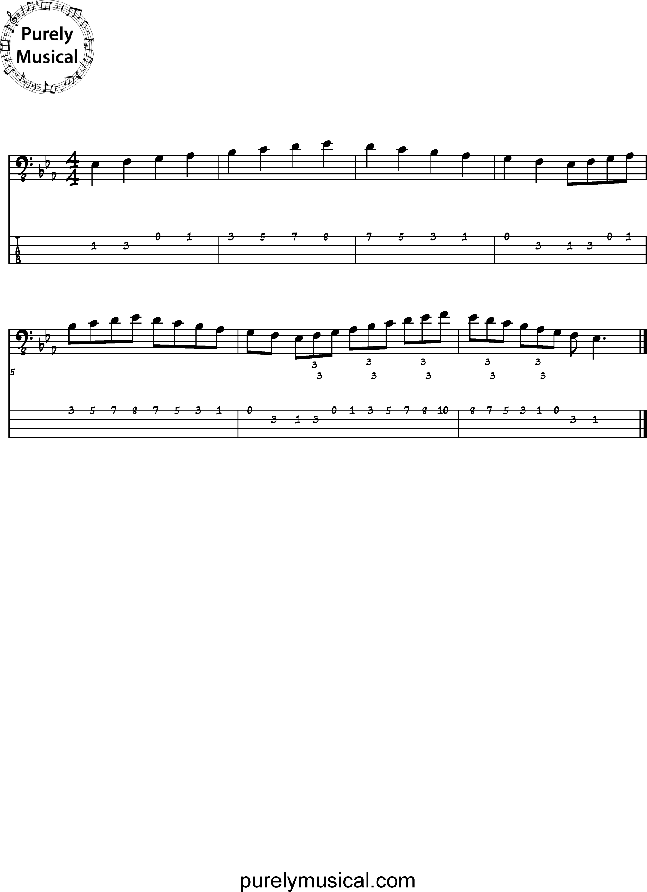 Intermediate  Scale Eb Major Scale