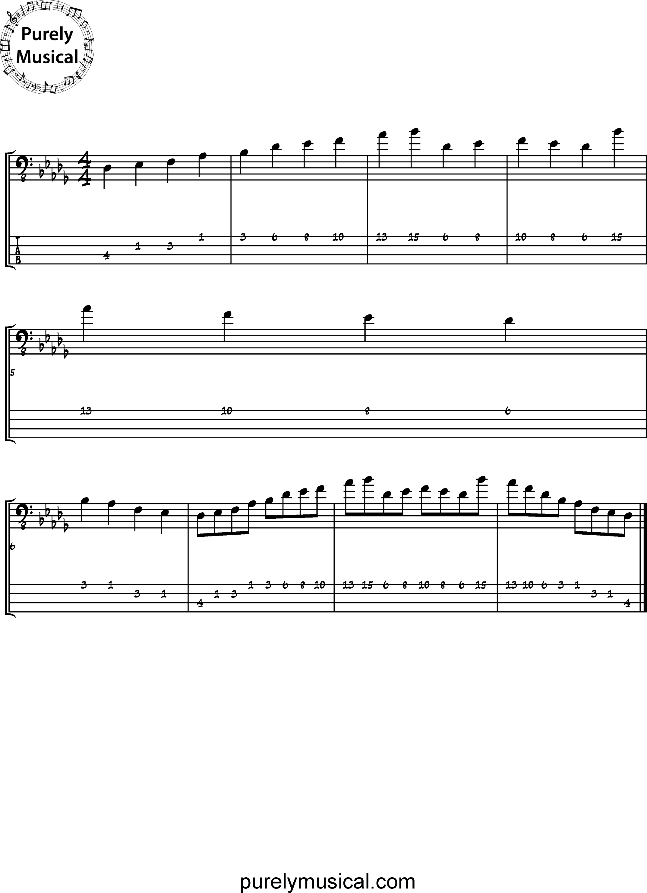 Beginner  Scale Db Major Pentatonic
