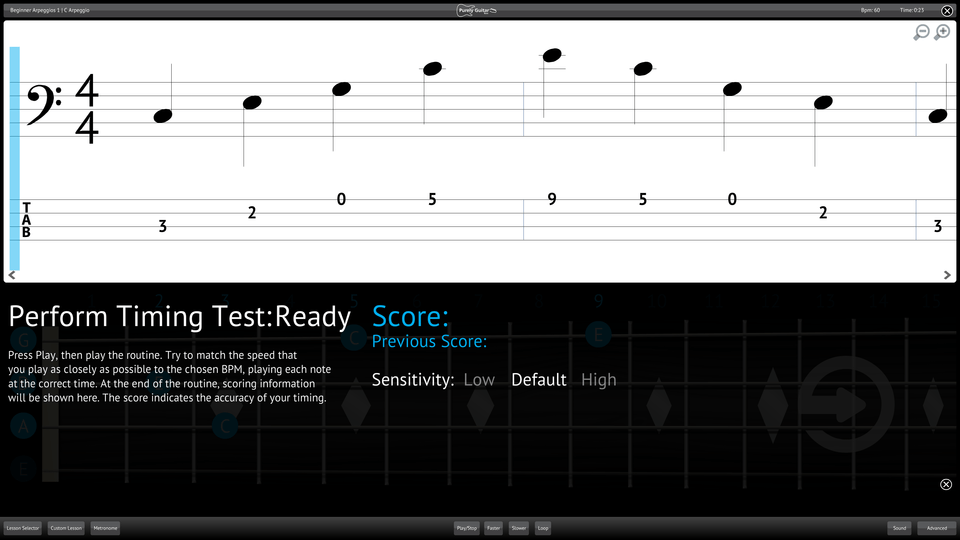 Purely Bass Guitar Screenshot Perform Testing Ability