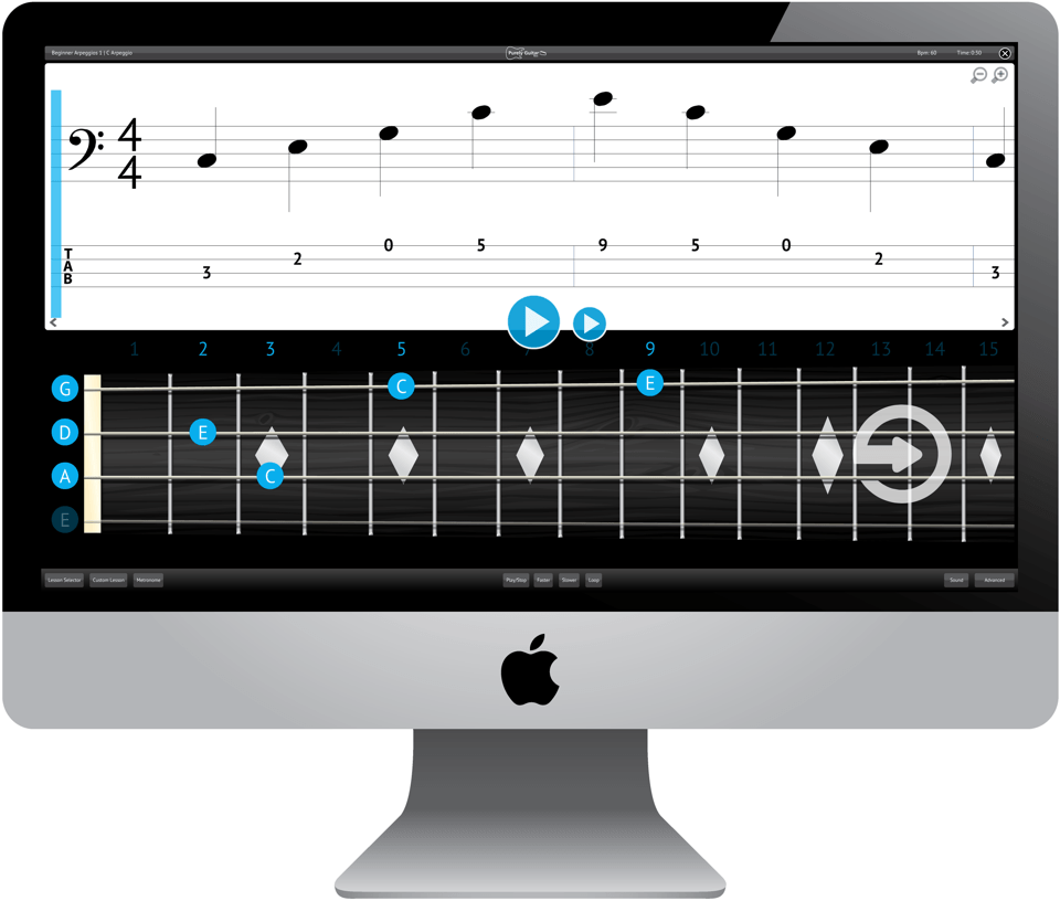 Purely Bass Guitar Software Application